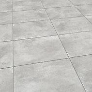 Luna Grey Matt Concrete effect Porcelain Outdoor Floor tile, Pack of 2, (L)600mm (W)600mm