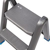 Mac Allister 2 tread Plastic Foldable Step stool (H)0.63m