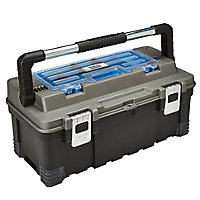"Mac Allister 22"" Plastic 1 compartment Toolbox"