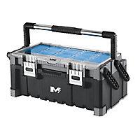 """Mac Allister 22"""" Plastic 11 compartment Cantilever toolbox"""