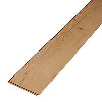Mackay Natural Oak effect High-density fibreboard (HDF) Laminate Flooring