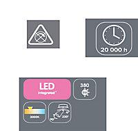 Mageia Chrome effect Mains-powered Spotlight