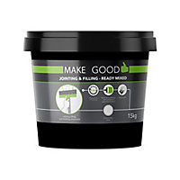 Make Good Plasterboard White Jointing, filling & finishing compound, 15kg Tub