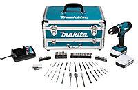 Makita G-Series 18V 1.3Ah Li-ion Cordless Combi drill 2 batteries HP457