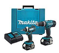 Makita LXT 18V 4Ah Li-ion Cordless Combi drill & impact driver DHP453 & DTD152