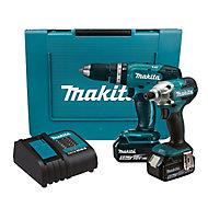 Makita LXT 18V 5.0Ah Li-ion Cordless Combi drill & impact driver DLX2336ST