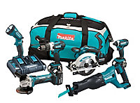 Makita LXT 18V 5Ah Li-ion Cordless 6 piece Power tool kit DLX6072PT
