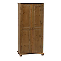 Malmo Pine Double Wardrobe (H)1853mm (W)883mm (D)570mm