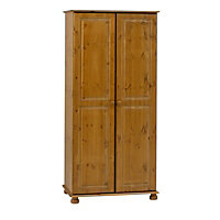 Malmo Pine effect Pine Double Wardrobe (H)1853mm (W)883mm (D)570mm