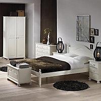 Malmo White 3 piece Bedroom furniture set
