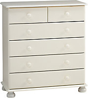 Malmo White Pine 6 Drawer Chest (H)901mm (W)823mm (D)383mm
