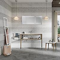 Manhattan Grey Matt Stone effect Ceramic Wall & floor Tile, Pack of 6, (L)600mm (W)300mm