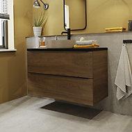 Manhattan Grey Matt Stone effect Porcelain Wall & floor Tile, Pack of 3, (L)600mm (W)600mm