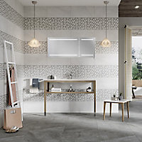 Manhattan Light grey Matt Stone effect Ceramic Wall & floor Tile, Pack of 6, (L)600mm (W)300mm