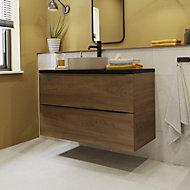 Manhattan Light Grey Matt Stone effect Porcelain Wall & floor Tile, Pack of 3, (L)600mm (W)600mm