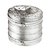 Manrose Aluminium Flexible Ducting hose, (L)2.5m (Dia)100mm