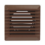 Manrose Brown Square Applications requiring low extraction rates Fixed louvre vent, (H)110mm (W)110mm