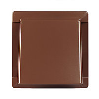 Manrose Brown Square Hooded air vent, (H)110mm (W)110mm