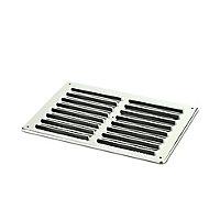 Manrose Chrome effect Rectangular Gas appliances Fixed louvre vent, (H)152mm (W)229mm
