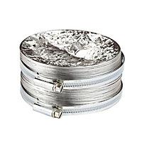 Manrose Silver Aluminium Flexible Ducting hose, (L)1m (Dia)100mm