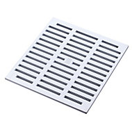 Manrose White Rectangular Adjustable vent & Fly screen, (H)76mm (W)229mm