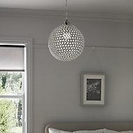 Mantus Chrome effect Pendant ceiling light, (Dia)300mm