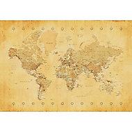 Map Multicolour Canvas art (H)600mm (W)800mm