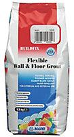 Mapei Flexible Black Wall & floor Grout, 2.5kg