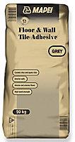 Mapei Grey Wall & floor tile Adhesive, 20kg