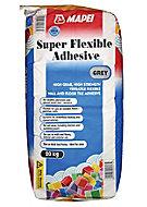 Mapei Super flexible Grey Tile Adhesive, 20kg