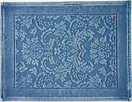 Marinette Saint-Tropez Platinum Light blue Cotton Floral Bath mat (L)500mm (W)700mm