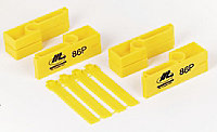 Marshalltown Yellow Polyethylene Brick line Box, 0.01m Pack of 2