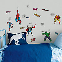 Marvel Comics Multicolour Self-adhesive Wall sticker (L)340mm (W)510mm