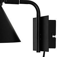 Masoala Matt Black Plug-in Wall light