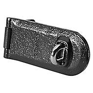 Master Lock Black Iron Hasp & staple, (L)140mm (W)60mm