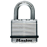 Master Lock Excell Steel Cylinder Open shackle Padlock (W)64mm