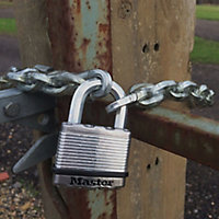 Master Lock Weather tough Laminated Steel Cylinder Padlock (W)45mm, Pack of 2