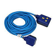Masterplug 1 socket 13A Blue Extension lead, 10m