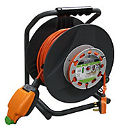 Masterplug 1 socket Cable reel, 30m