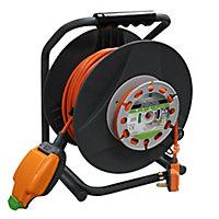 Masterplug 1 socket Cable reel, 30m