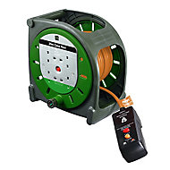 Masterplug 4 socket Cable reel, 20m
