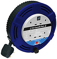 Masterplug 4 socket Cable reel, 8m