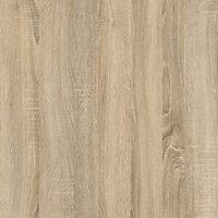 Matt oak effect 3 Drawer Desk (H)726mm (W)1201mm (D)481mm