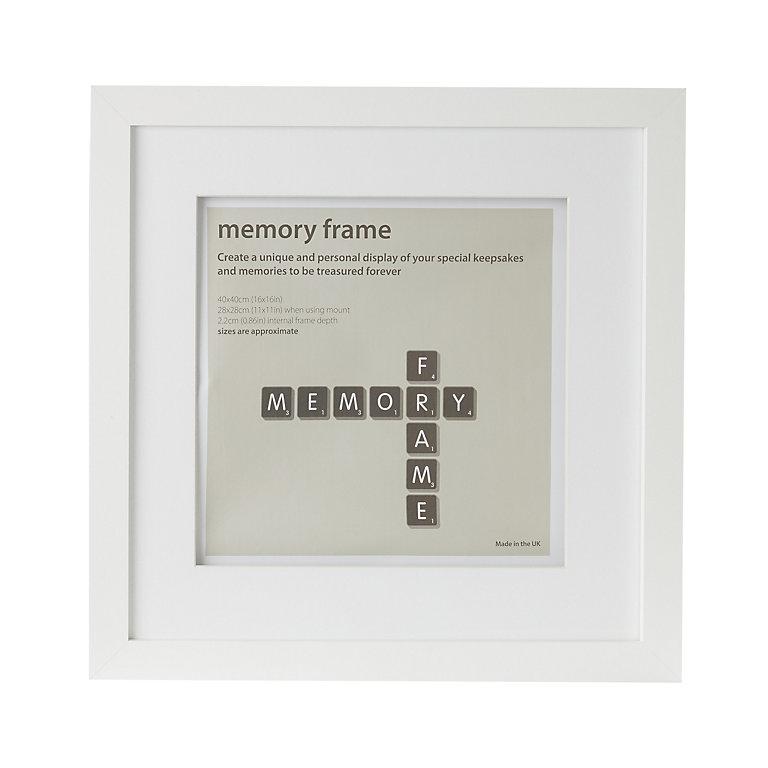 Matt White Memory Box Single Picture Frame H 45cm X W 45cm Diy At B Q