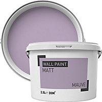Mauve Matt Emulsion paint, 2.5L