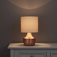 Medes Copper effect Halogen Table lamp base