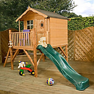 Mercia 12x6 Tulip Apex Shiplap Tower slide playhouse