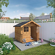 Mercia 6x5 Poppy Apex Shiplap Playhouse - Assembly service included