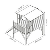 Mercia 7x6 Tulip Apex Shiplap Tower playhouse - Assembly service included