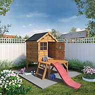 Mercia 8x10 Snug Apex Shiplap Tower slide playhouse - Assembly service included